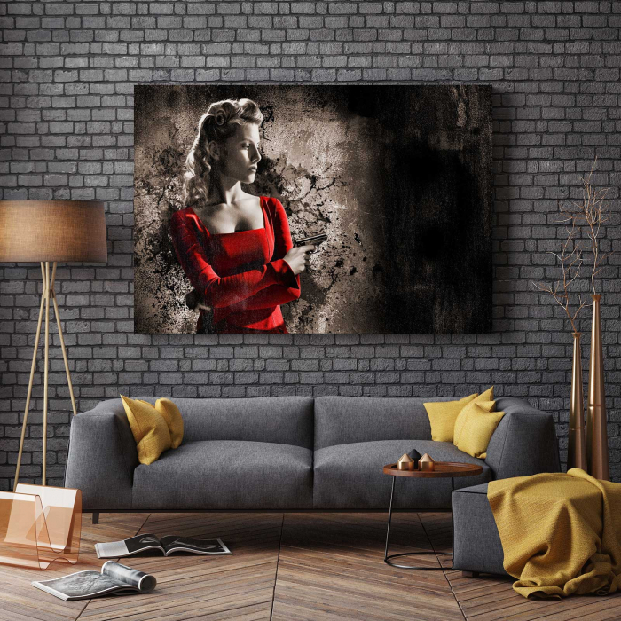 Tablou Canvas - Lady In Red 2