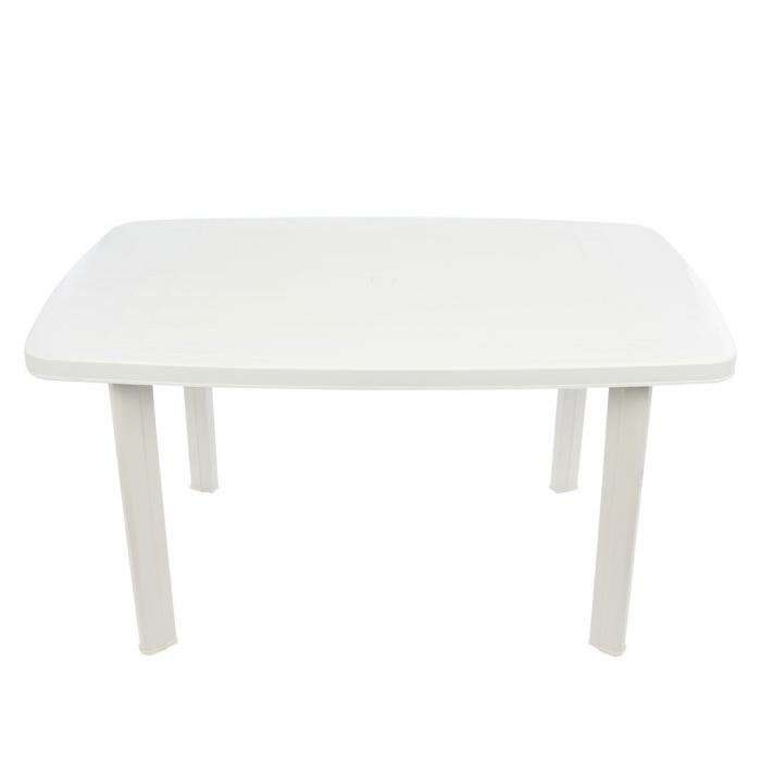 Set masa Alba + 6 scaune Albe, pentru gradina, alb, din plastic 1