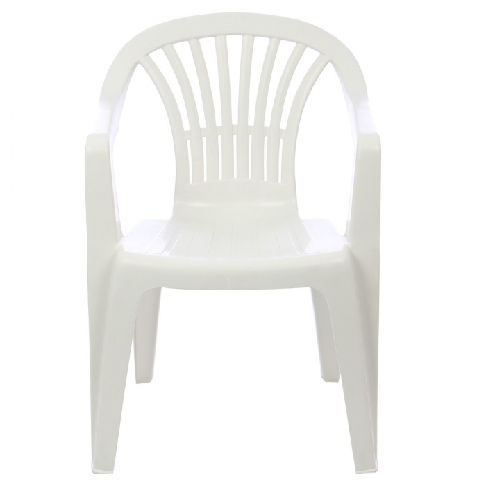 Set masa Alba + 6 scaune Albe, pentru gradina, alb, din plastic 2