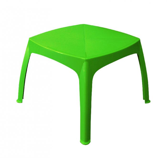 Masa verde pentru copii, plastic, 68 x 68 x 45 cm [0]