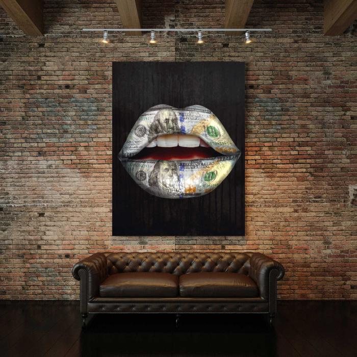 Tablou Canvas - Money Lips 2