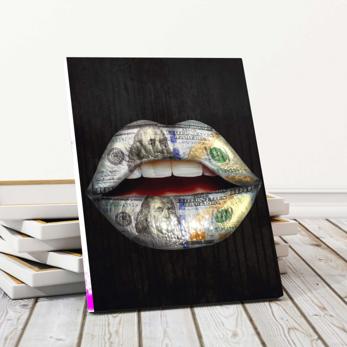 Tablou Canvas - Money Lips 0