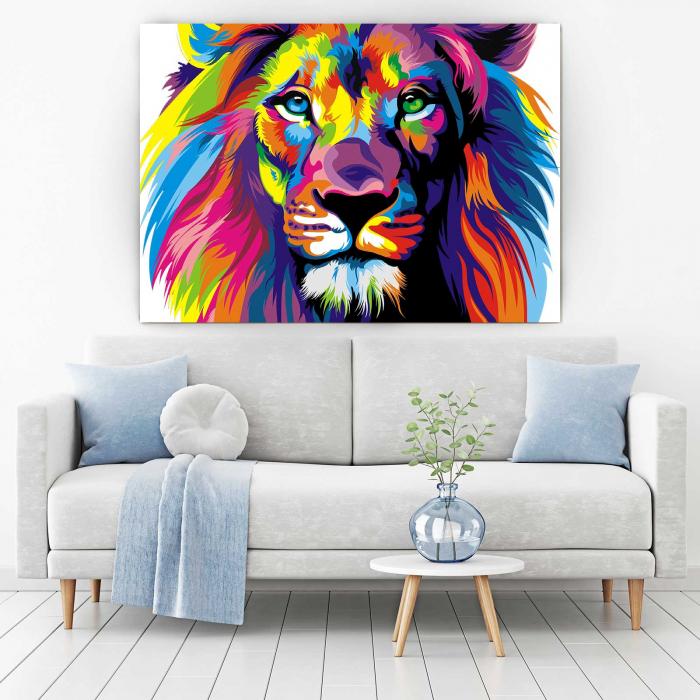 Tablou Canvas - Multi Color Lion [1]
