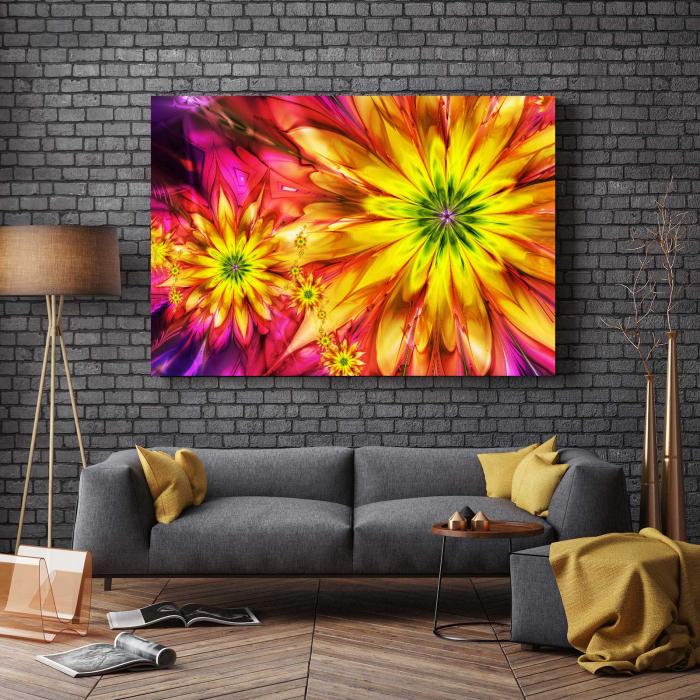 Tablou Canvas - Multicolor Flowers 2