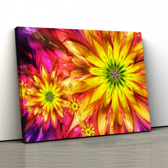 Tablou Canvas - Multicolor Flowers 0