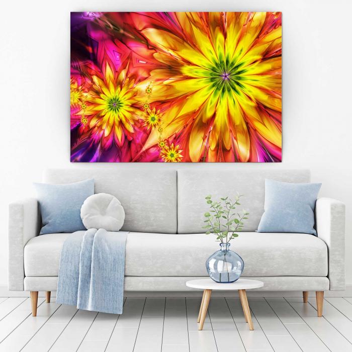 Tablou Canvas - Multicolor Flowers 1