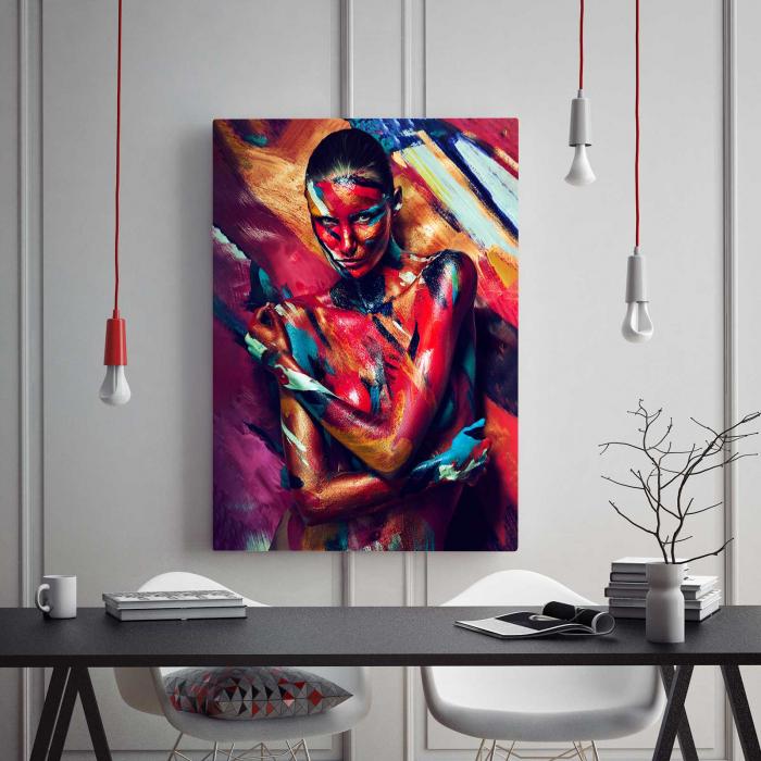 Tablou Canvas - Paint Stripes Sexy [1]