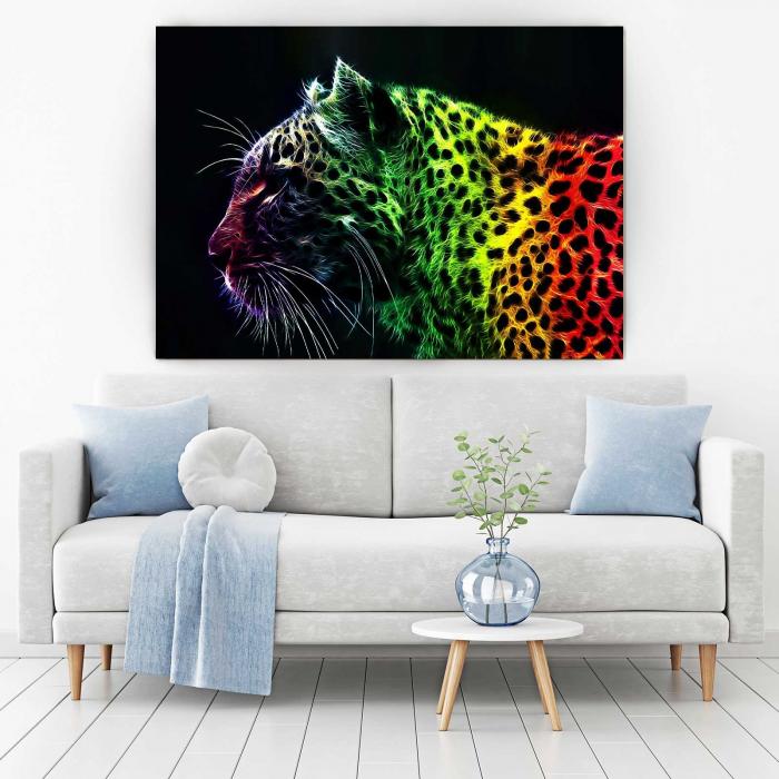 Tablou Canvas - Pantera Colorata [1]