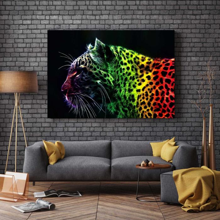 Tablou Canvas - Pantera Colorata [2]