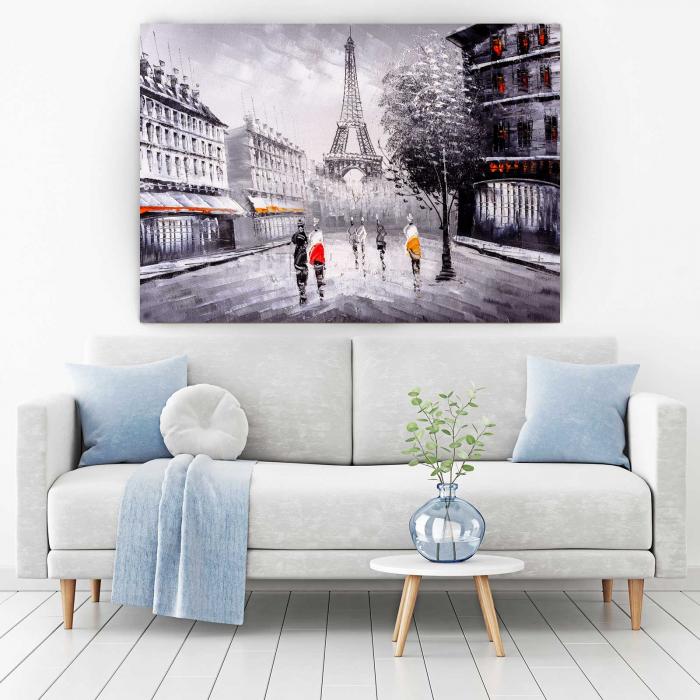 Tablou Canvas - Paris In Alb-Negru 1