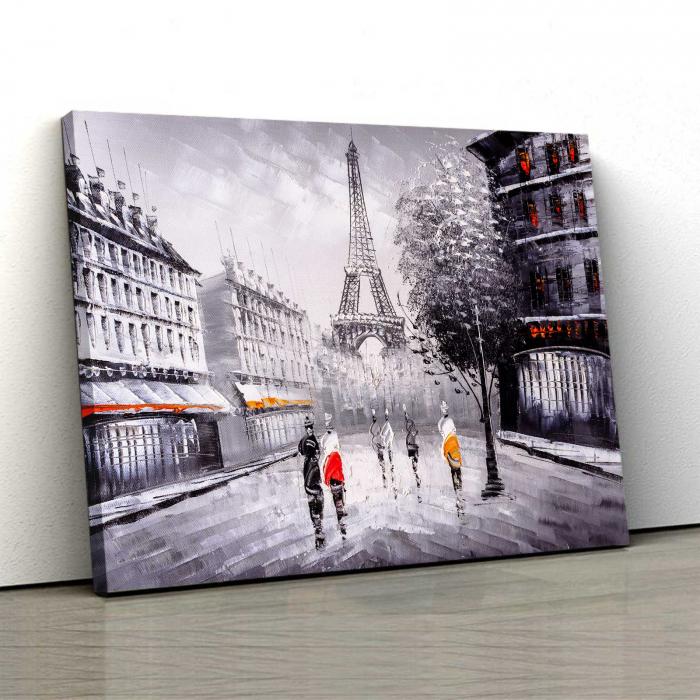Tablou Canvas - Paris In Alb-Negru 0
