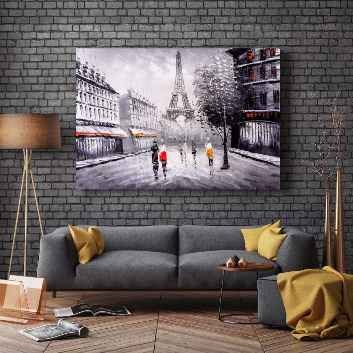 Tablou Canvas - Paris In Alb-Negru 2