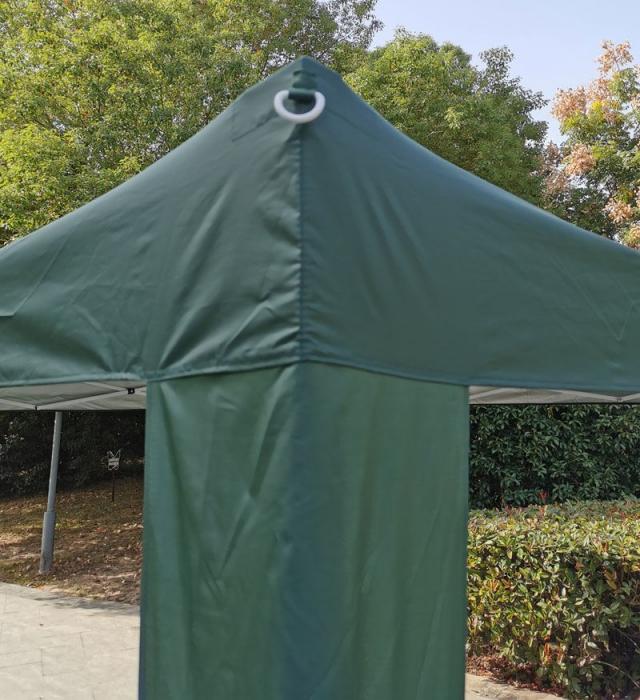 Pavilion gradina, patrat, cadru metalic + poliester, pliabil, verde, 3 x 3 m [2]