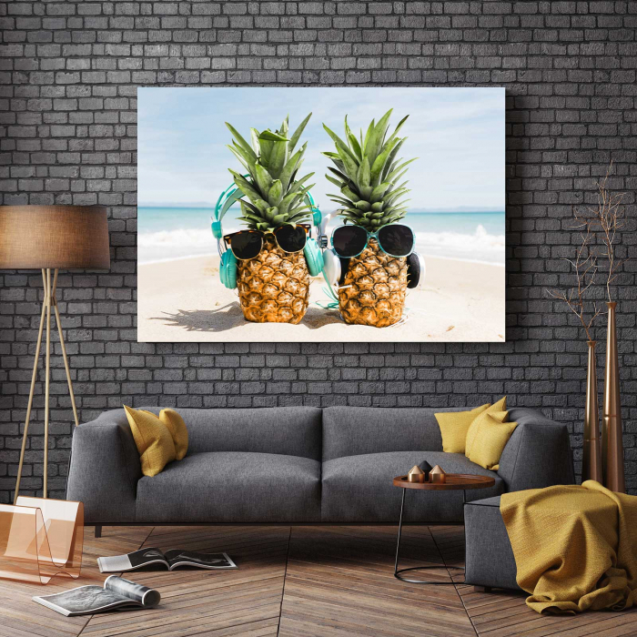 Tablou Canvas - Pineapple Holiday 2