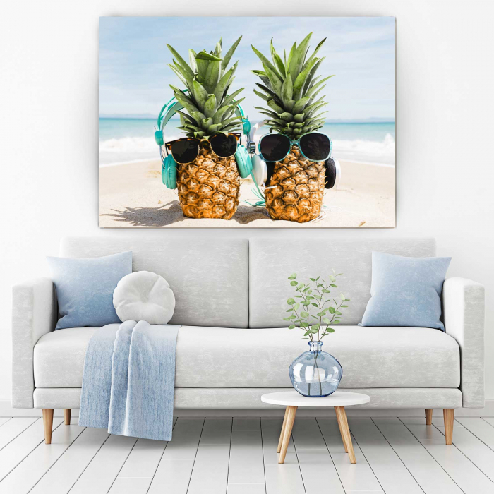 Tablou Canvas - Pineapple Holiday 1