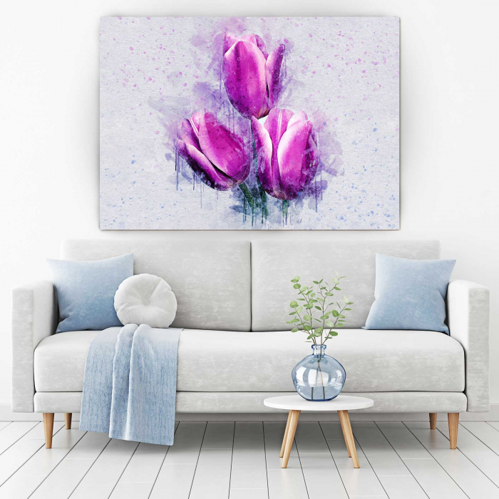 Tablou Canvas - Pink Tulips 1