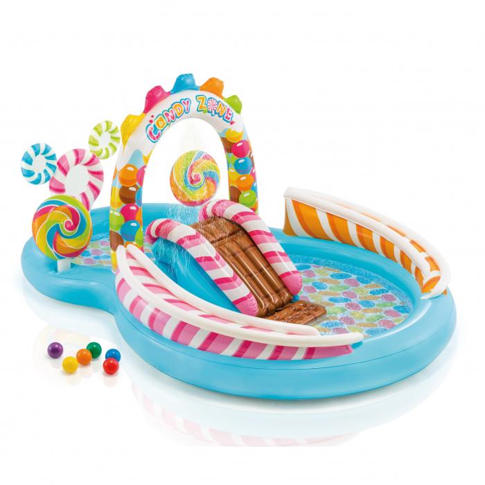 Piscina gonflabila Candy, pentru copii, cu accesorii, 295 x 191 x 130 cm 1