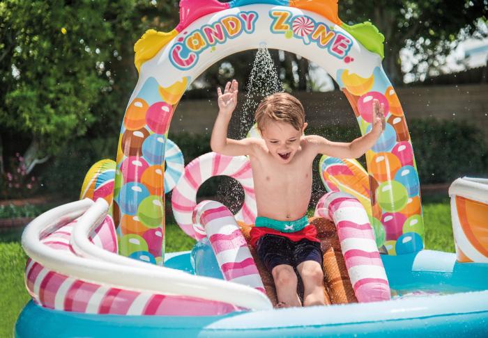 Piscina gonflabila Candy, pentru copii, cu accesorii, 295 x 191 x 130 cm 2