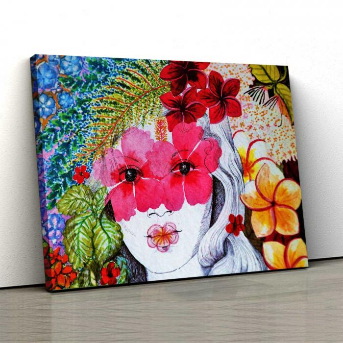 Tablou Canvas - Portret Floral [0]