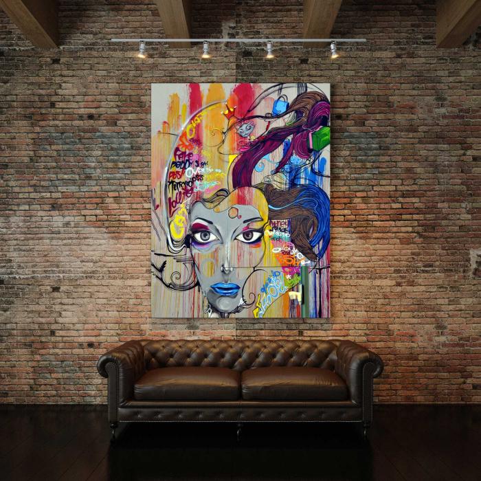 Tablou Canvas - Portret Grafic [2]