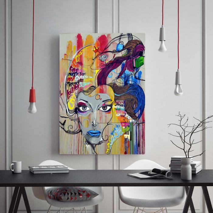Tablou Canvas - Portret Grafic [1]