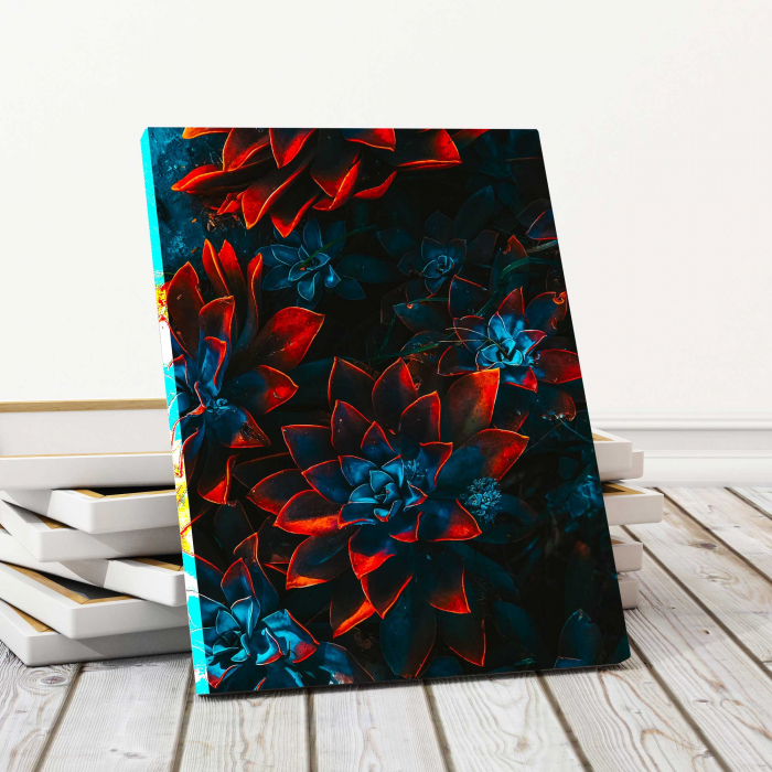 Tablou Canvas - Red Flowers 0