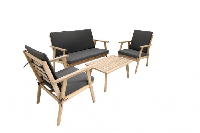 Set mobilier cafea din lemn negru [0]