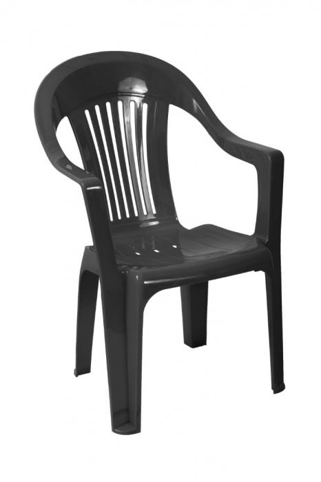 Scaun plastic, negru [0]