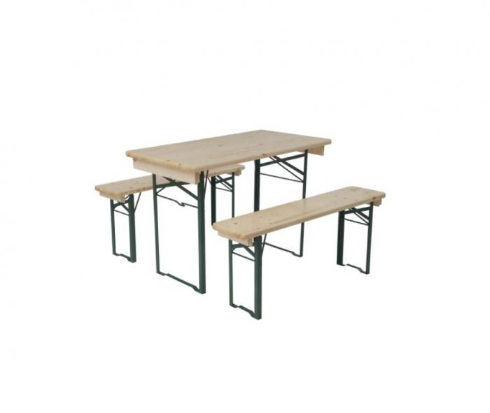 Set mobilier terasa masa + 2 banci, 5 x 110 cm [0]