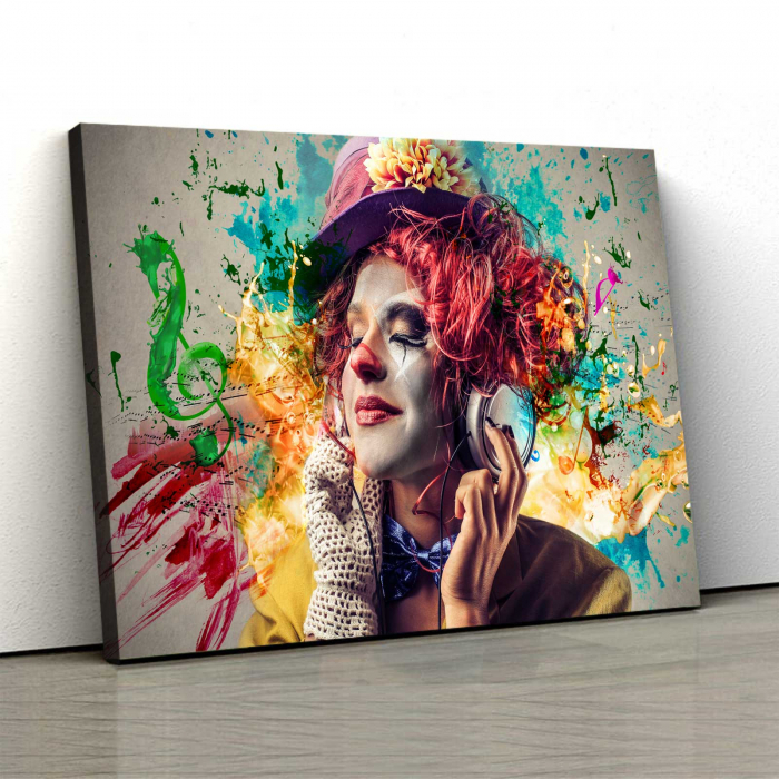 Tablou Canvas - Simte Muzica 0