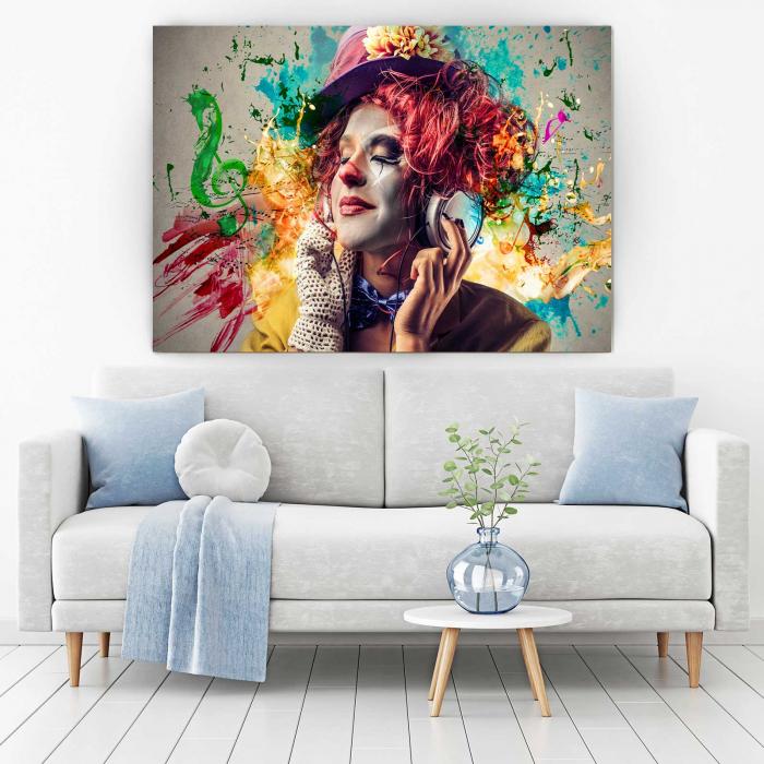 Tablou Canvas - Simte Muzica 1