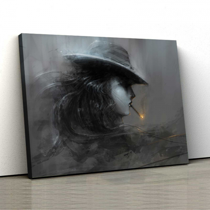 Tablou Canvas - Smoke Lady 0