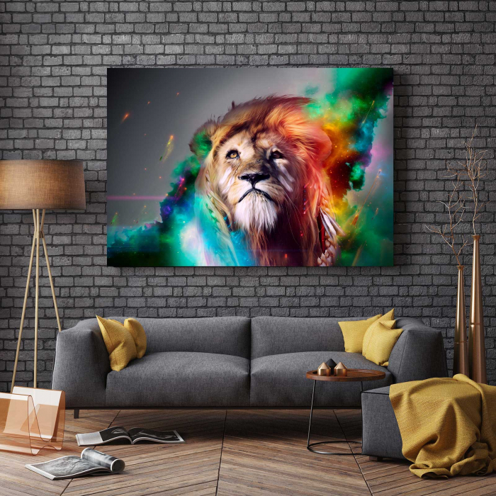 Tablou Canvas - Splash Lion 2