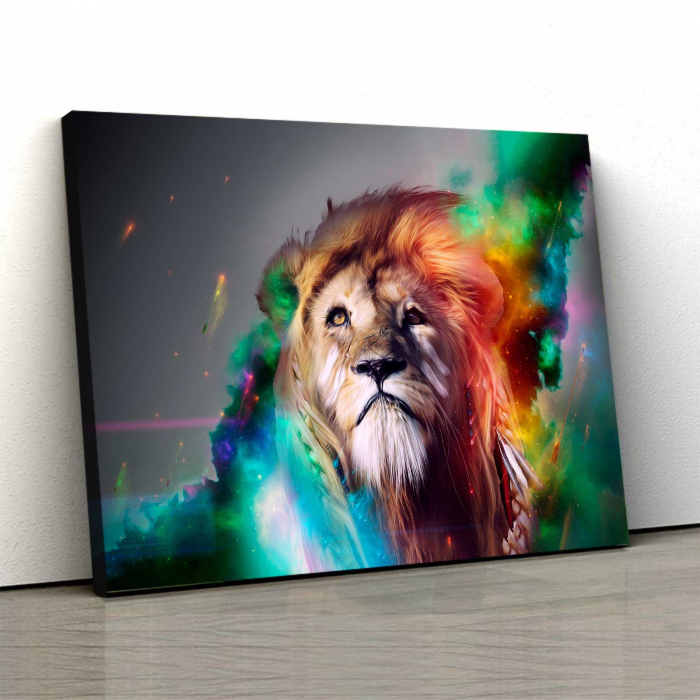 Tablou Canvas - Splash Lion 0
