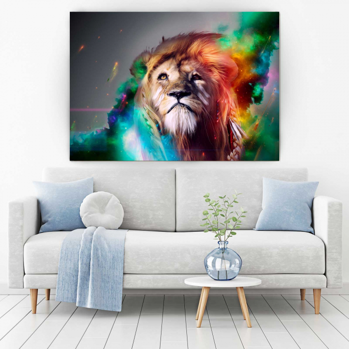 Tablou Canvas - Splash Lion 1