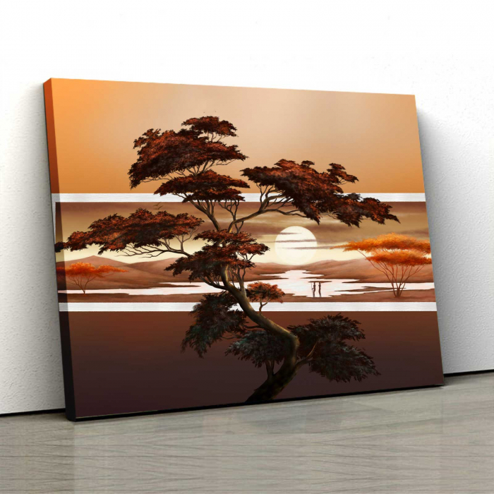 Tablou Canvas - Sunset Tree 0