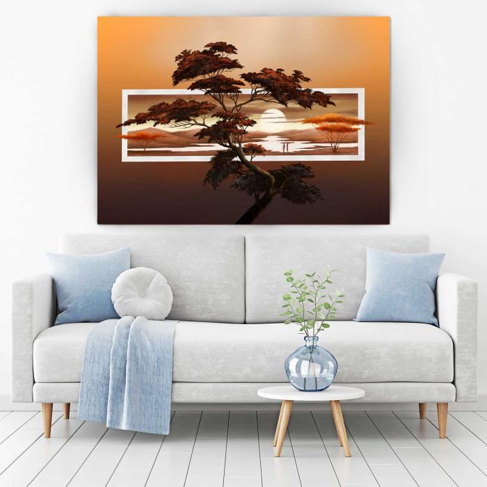 Tablou Canvas - Sunset Tree 1