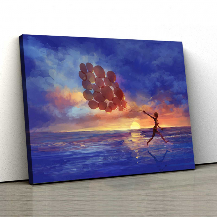 Tablou Canvas - Sunset Walk 0