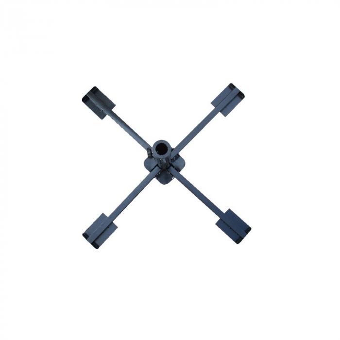 Suport umbrela pliabila, negru [0]