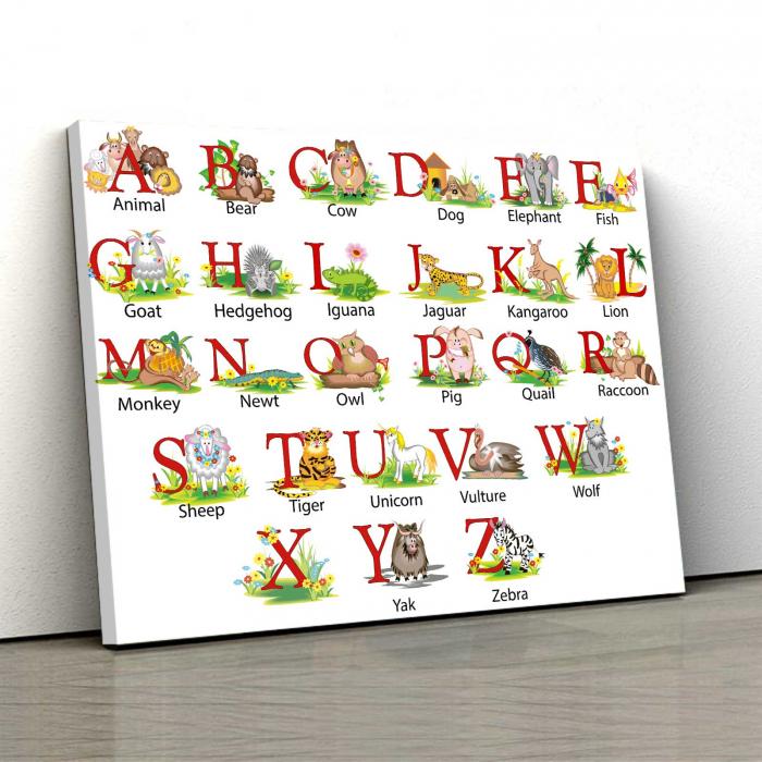 Tablou Canvas Copii - Alfabet [0]