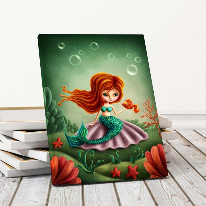 Tablou Canvas Copii - Mica Sirena [0]