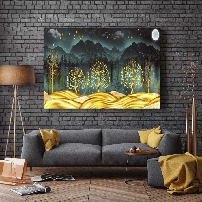 Tablou Canvas - Gold Dream [2]