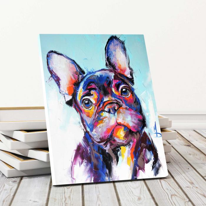 Tablou Canvas Copii - Neon Dog [0]