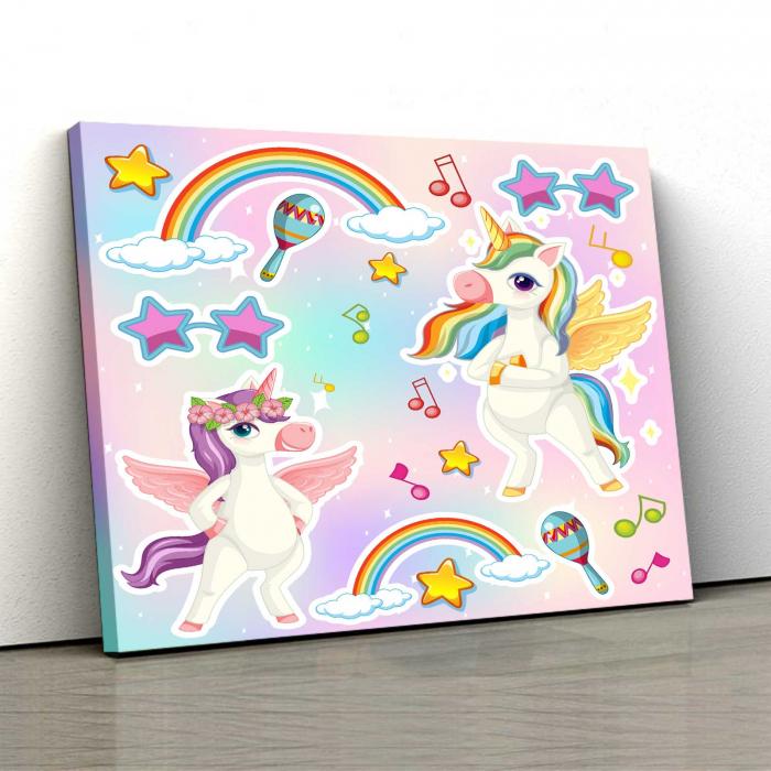 Tablou Canvas Copii - Unicorn Party [0]