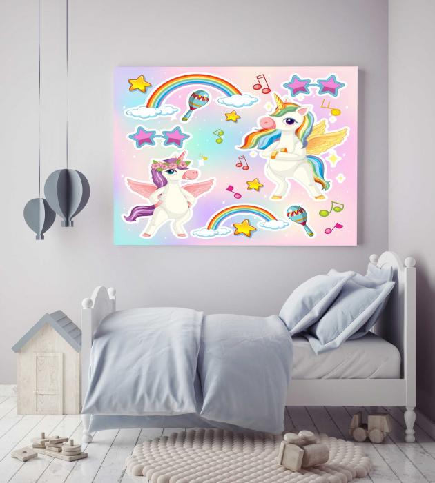 Tablou Canvas Copii - Unicorn Party [2]