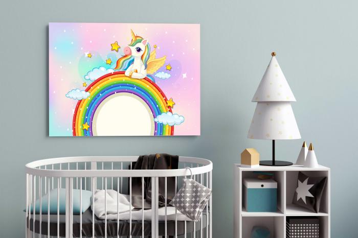 Tablou Canvas Copii - Unicorn [2]
