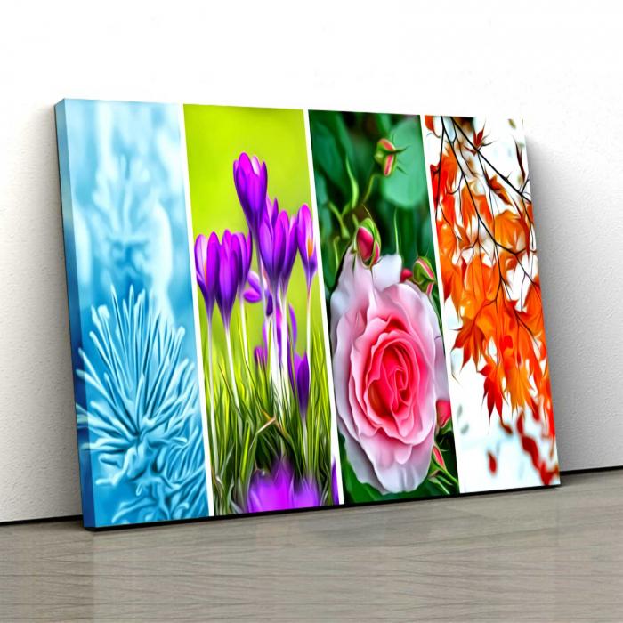 Tablou Canvas - Tapet Floral 0