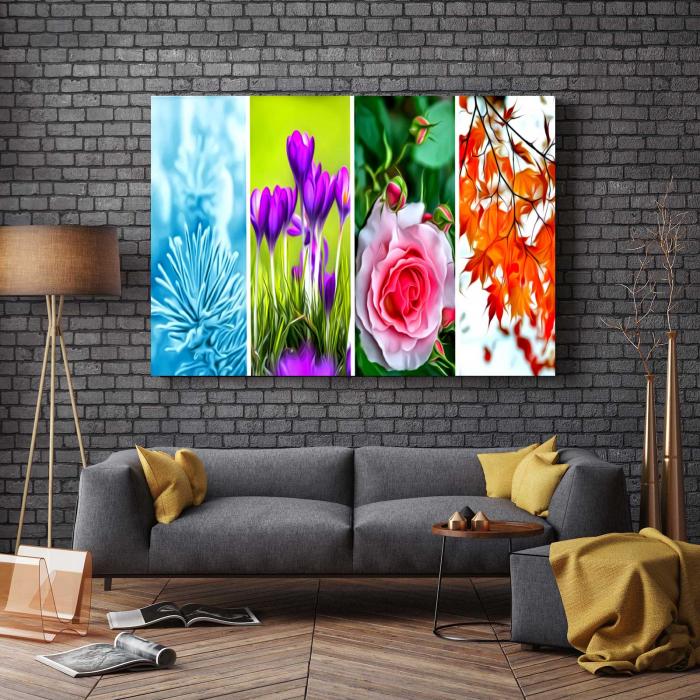 Tablou Canvas - Tapet Floral 2