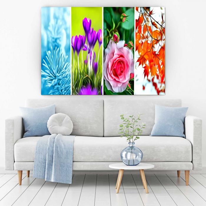 Tablou Canvas - Tapet Floral 1