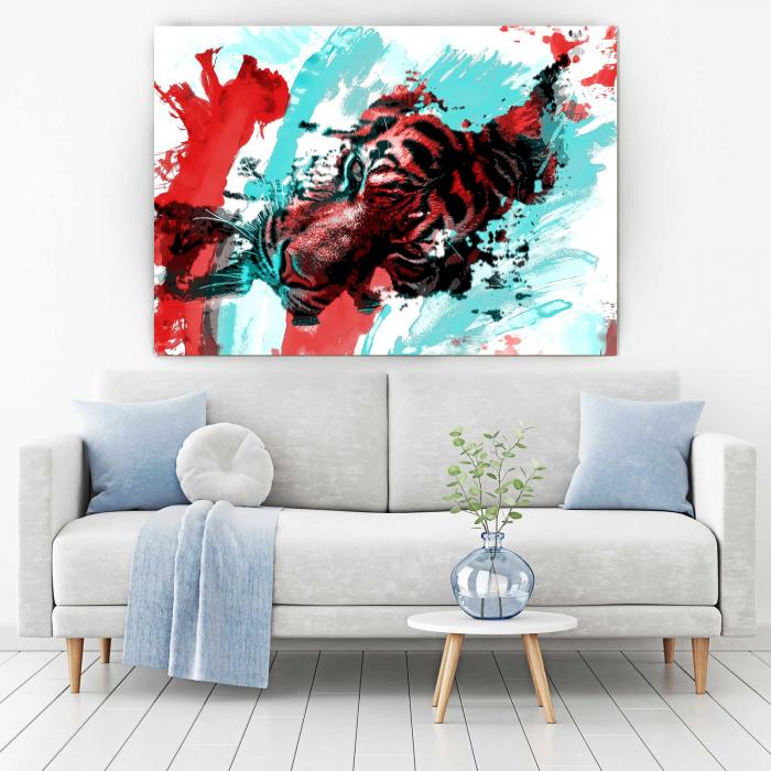 Tablou Canvas - Tiger Art [1]